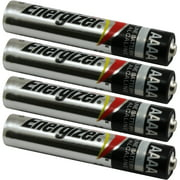 4 Energizer AAAA EN96 Alkaline Batteries for Streamlight Stylus Lights