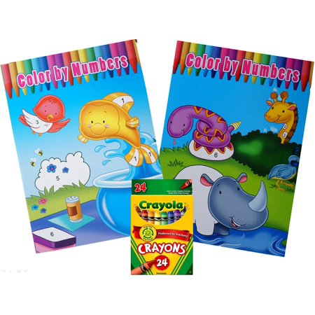 two color by numbers coloring books