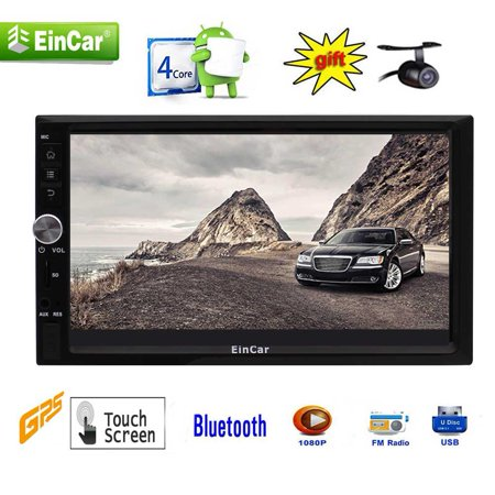 New Upgraded Android 7 1 double din car stereo with 7 inch capacitive  touchscreen Car Radio GPS Navigation Head Unit with Quad Core Support Split