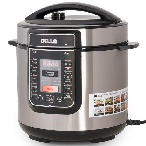 Della 6-Qt. 8-in-1 Pressure Cooker