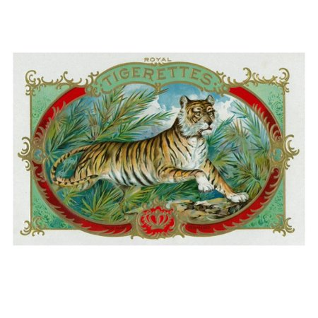 Cigar Press (Tigerettes Brand Cigar Box Label Print Wall Art By Lantern Press )