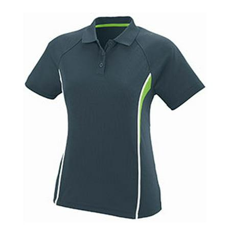 Augusta Drop Ship Ladies Wicking Polyester Mesh Sport Shirt with Contrast - Ladies Wicking Mesh Short