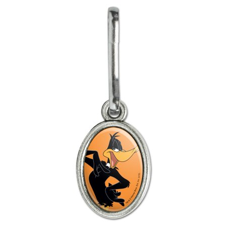 Looney Tunes Daffy Duck Antiqued Oval Charm Clothes Purse Suitcase Backpack Zipper Pull Aid