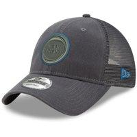 Detroit Pistons New Era Velocity Trucker 9TWENTY Adjustable Snapback Hat - Graphite - OSFA