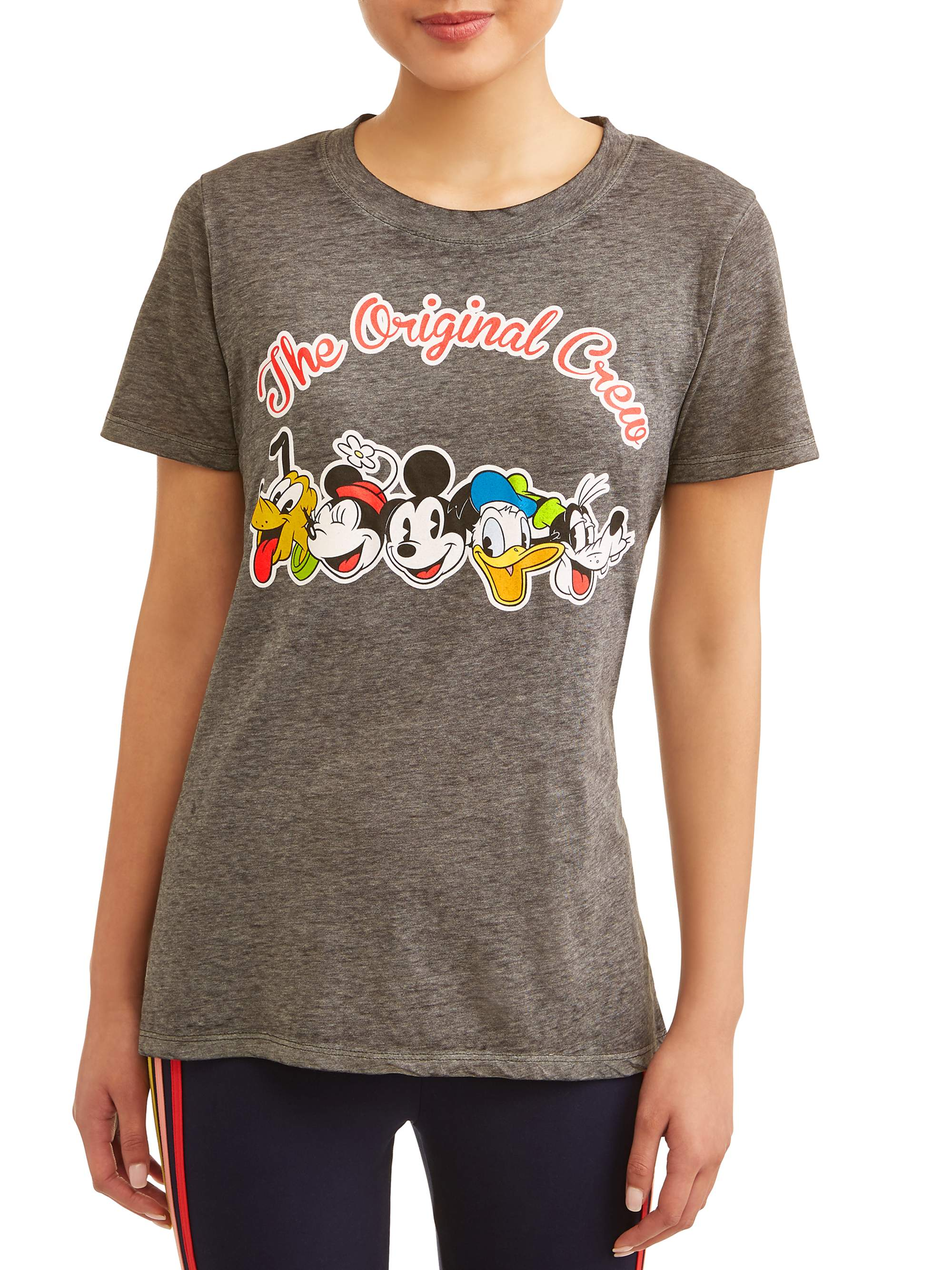 Junior's Mickey & Friends Original Crew Graphic Heather T-Shirt