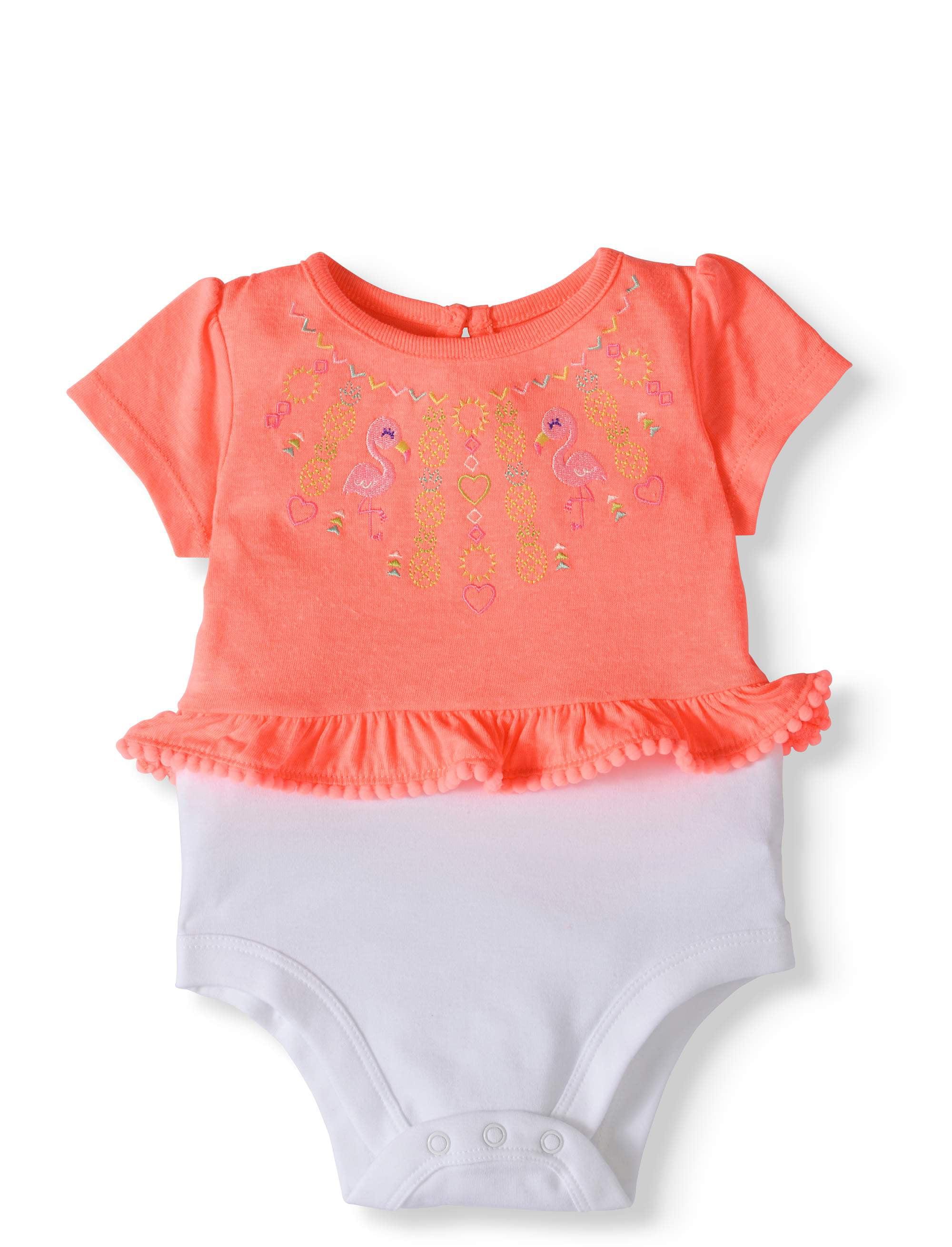 Baby Girls' Graphic Peplum Bodysuit