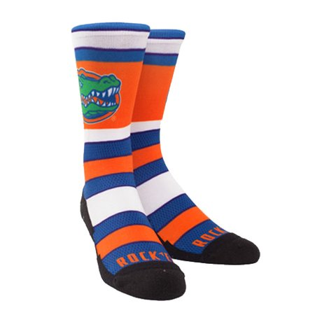 Rock 'Em Elite Florida Gators - Hyper Stripes Blue Licensed L/XL Crew (Florida Marlins Socks)