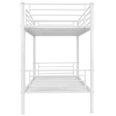 Costway Metal Twin Over Twin Bunk Beds Ladder Kids Teens Dorm Bedroom White - image 5 de 8