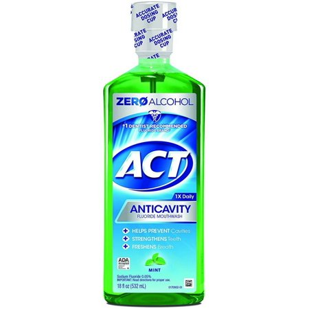 2 Pack - ACT Anticavity Fluoride Rinse Mint 18 oz (Anticavity Fluoride Rinse Mint Shield)