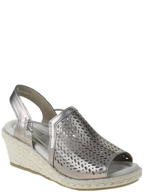 Earth Spirit Womens Metallic Wedge Sandals