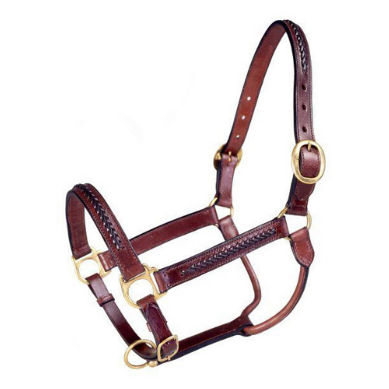 Royal King Brown Braided Leather Halter