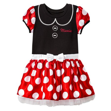 92ed35658a3d Minnie Mouse - Disney Infant   Toddler Girls Black   Red Polka Dot ...