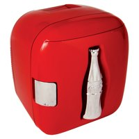 Coca-Cola 12 Can AC/DC Cube Personal Mini Cooler/Mini Fridge