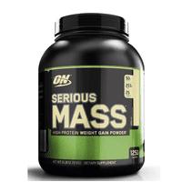 Optimum Nutrition Serious Mass Protein Powder, Vanilla, 50g Protein, 6lb, 96oz