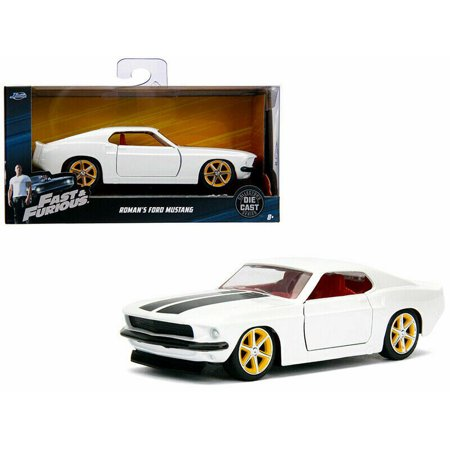 JADA 1:32 W/B - METALS - FAST & FURIOUS - ROMAN'S FORD MUSTANG (WHITE) (Roman In Fast And Furious Real Name)