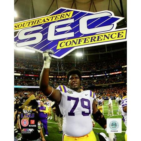 - Herman Johnson LSU Tigers 2007 Action Photo Print