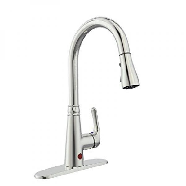 Boharers Touchless Kitchen Sink Faucet With React Touch Free