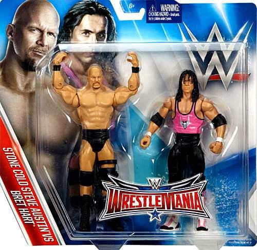 Stone Cold Steve Austin & Bret Hart Action Figure 2-Pack WWE Wrestling DLG22