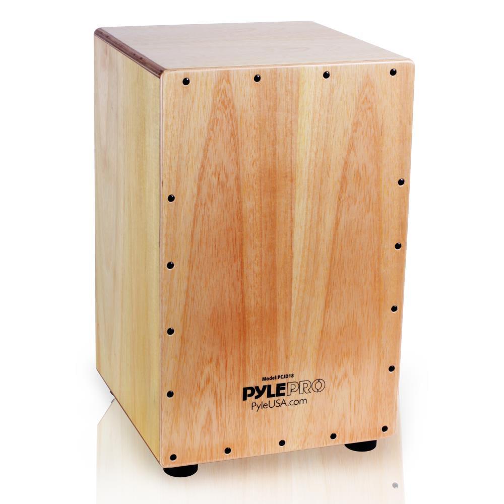 Pyle PCJD18 - Stringed Jam Cajon - Wooden Cajon Percussion Box