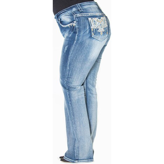 0e8ba61b7 The striking embellishments and embroidery add a great dash of style. Step  out with class and confidence in Grace in LA Jeans.