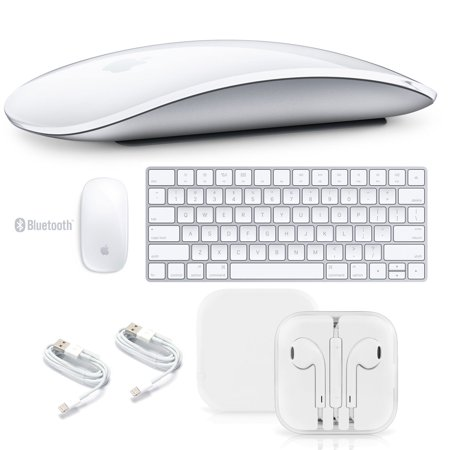 Apple Magic Mouse 2 + Apple Magic Keyboard + Apple EarPods with Remote and Mic + MicroFiber Cloth