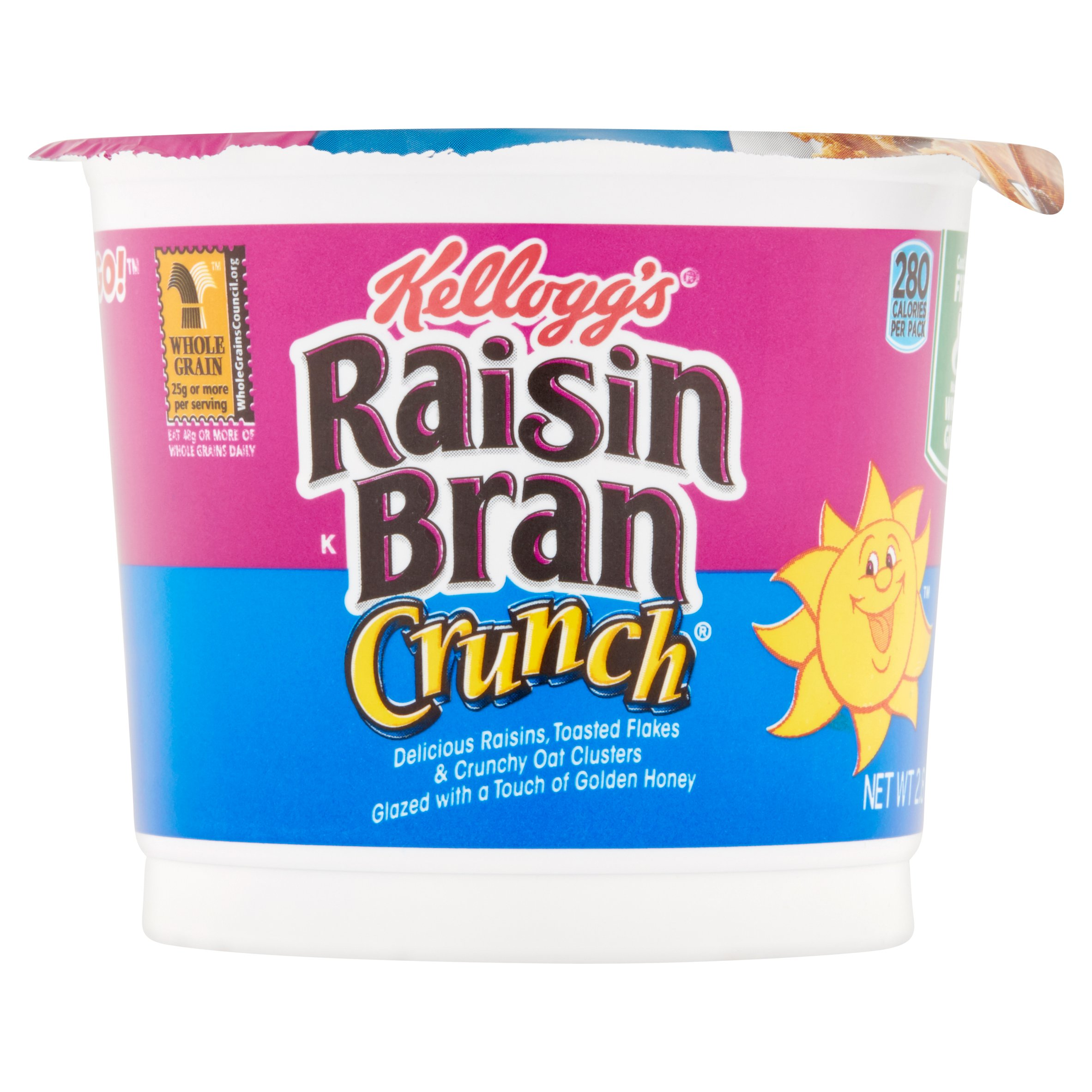 Kellogg's Raisin Bran Crunch Cereal, 2.8 oz, 12 pack