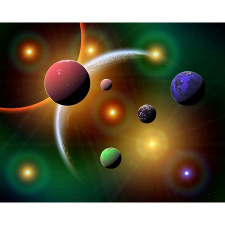 Artists Concept Illustrating The Countless Variations Of Stars And Planets In The Milky Way Galaxy Poster Print
