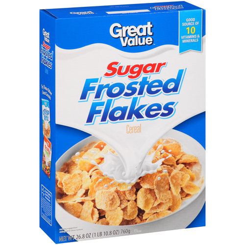 Great Value Sugar Frosted Flakes Cereal, 26.8 oz
