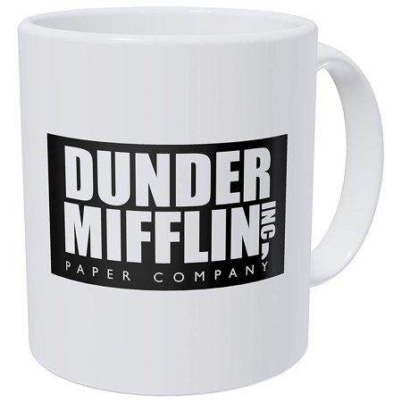 Funny coffee mug drinking cup morning breakfast drink - Dunder Mifflin Inc paper company