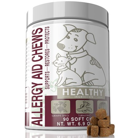 Paws & Pals Allergy Immune Supplement Aid for Dog & Cats- Antioxident Seasonal and Itchy Relief Treats for Pets with Omega-3, Digestive Prebiotic & Probiotics - 90 (Allergic Cats)