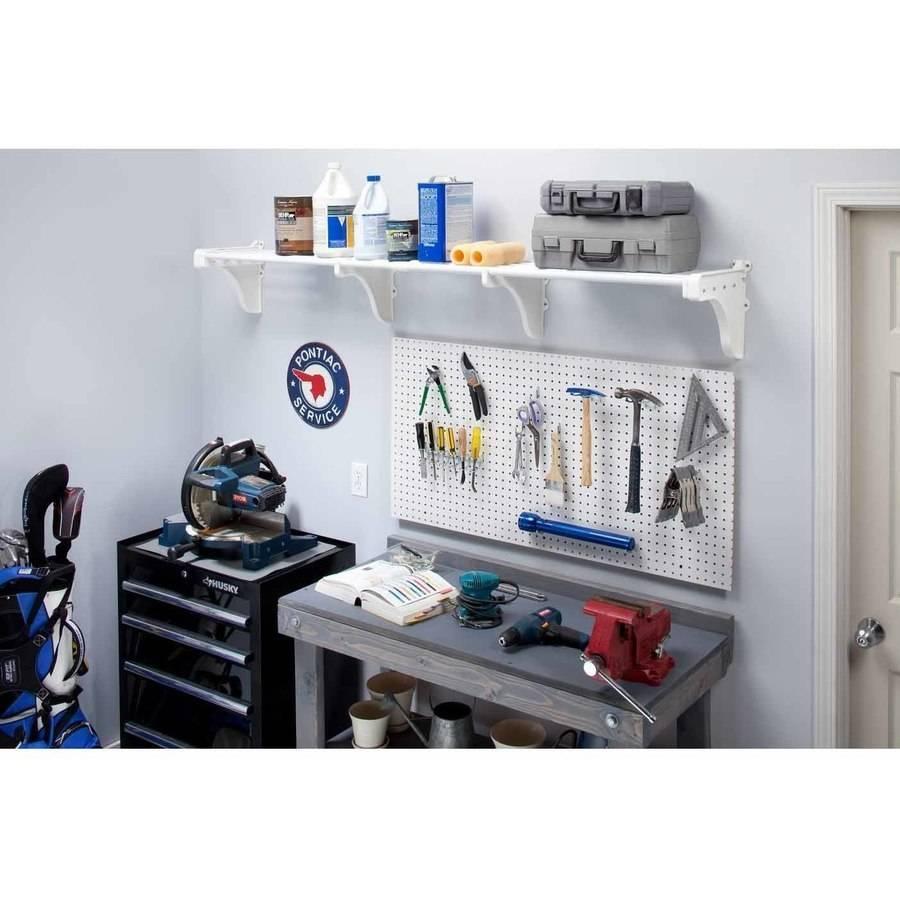 EZ Shelf Expandable Garage Shelf, Up to 6.3' of Storage Space , White