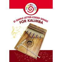 21 Simple Letter-Coded Songs for Kalimba: Kalimba Sheet Music for Beginners (Paperback)