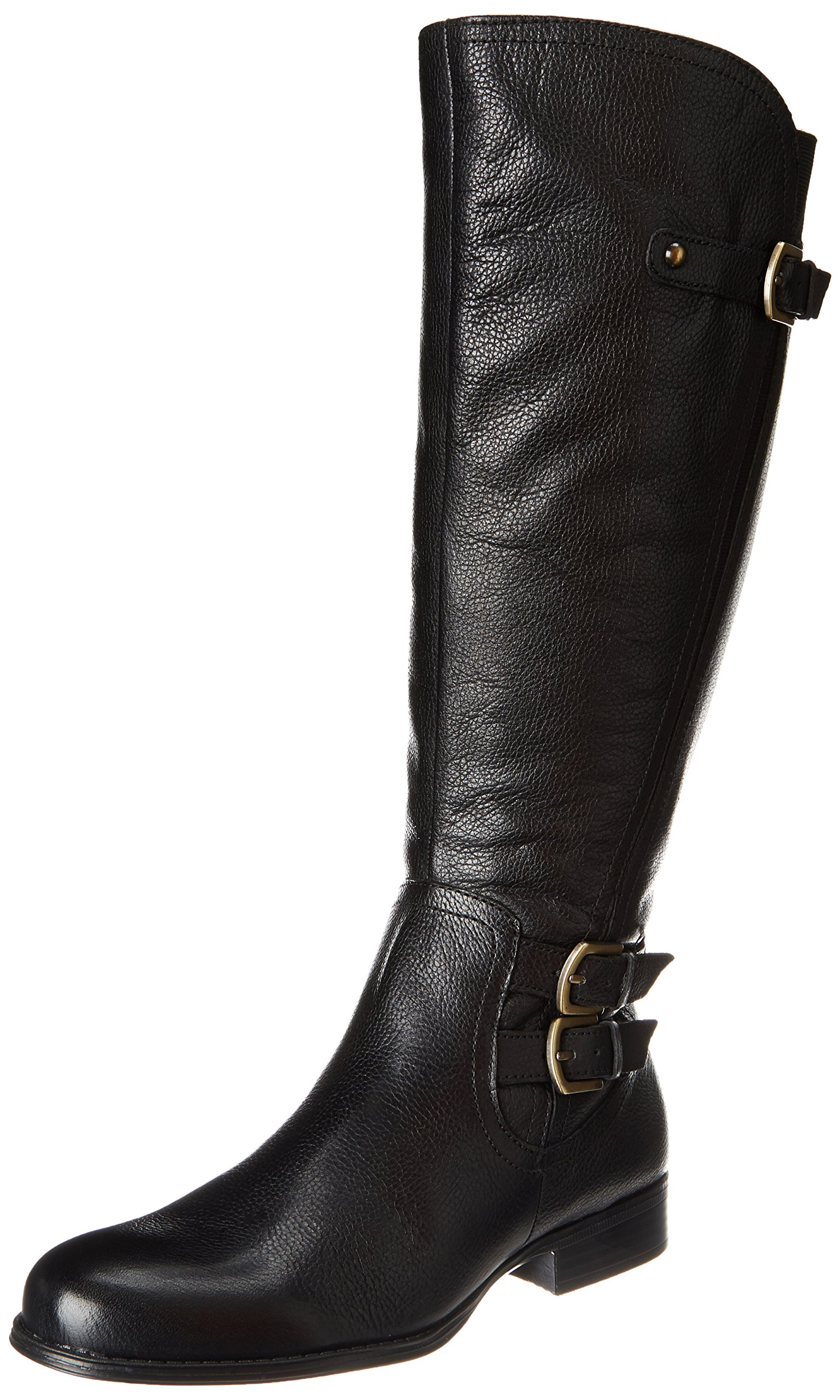 Naturalizer New Black Women's Shoes 4.5W Knee-High Leather Boots by Naturalizer