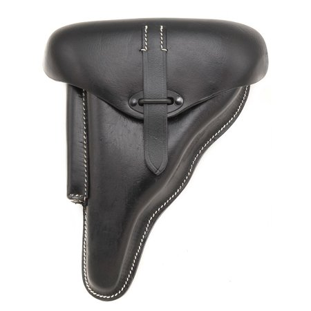 GERMAN BLACK LEATHER WALTHER P38 HOLSTER WW2 DATED 1942 Left Hand Version … ()