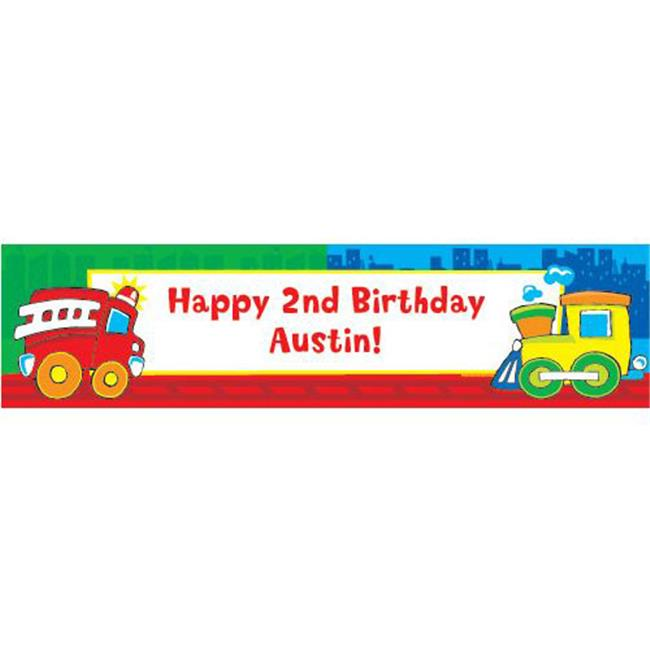 Costume Supercenter BB007670 Little Truck Party Personalized Banner