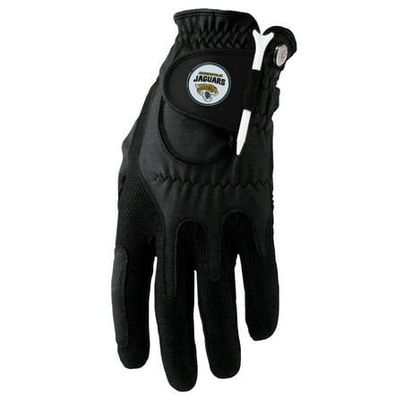 Jacksonville Jaguars Left Hand Golf Glove & Ball Marker Set - Black - OSFM