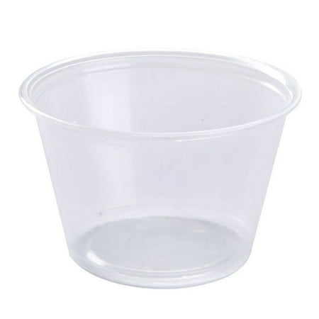 Dart 400PC, 4 Oz Conex Clear Complements Portion Polypropylene Container, Plastic Condiment Cups with Clear Lids, Souffle Portion, Jello Shot Cups, Salad Dressing, Sauce Containers (100)