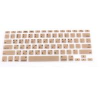 "Korean Silicone Keyboard Skin Cover Gold Tone for Apple Macbook Air 13""15""17"""