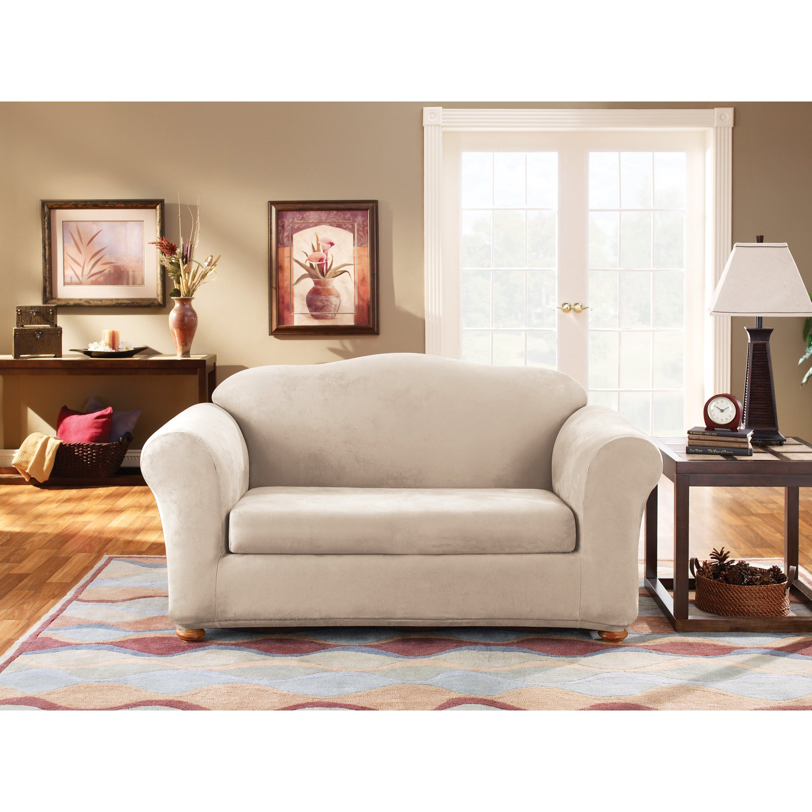 Sure Fit Suede Sofa Stretchable Slipcovers Walmart Com