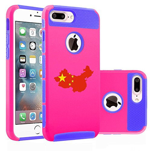 For Apple (iPhone 8 Plus) Shockproof Impact Hard Soft Case Cover China Chinese...