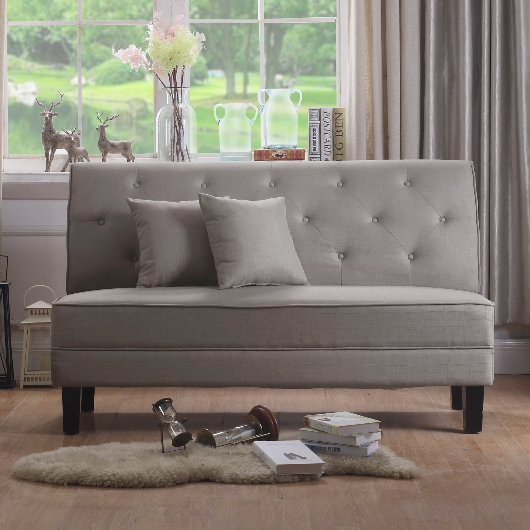 Alton Furniture Grana Tufted Loveseat, Multiple Colors by Fully Wind Co, Ltd.