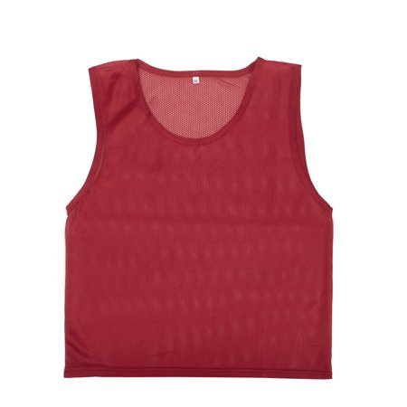 Soccer Scrimmage Vests - TopTie Scrimmage Training Vests Soccer Jerseys Set of 12-Red-Adult