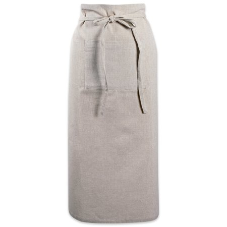 Design Imports Natural Solid Chambray Bistro (Inset Pocket Bistro Apron)