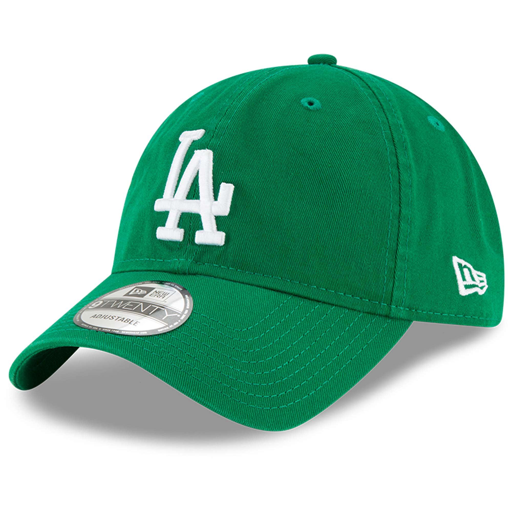 Los Angeles Dodgers New Era St. Patrick's Day Core Classic 9TWENTY Adjustable Hat - Green - OSFA
