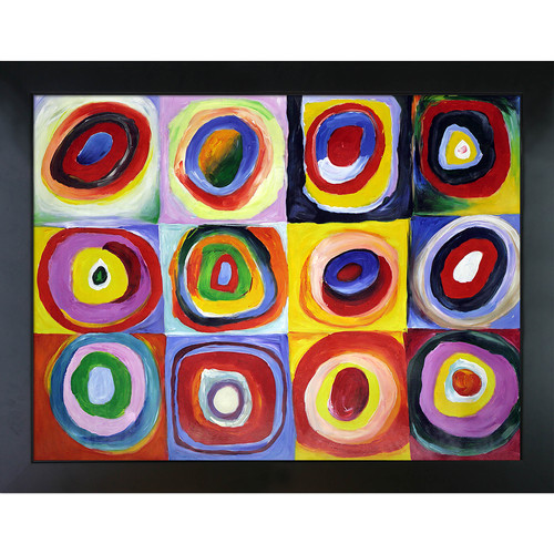 Wildon Home Farbstudie Quadrate by Wassily Kandinsky Framed Painting
