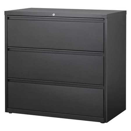 HL8000 Series 42-inch Wide 3-Drawer Lateral File Cabinet, Black