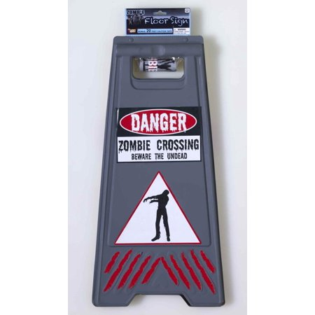 Beware Of Zombie Sign and Tape Halloween Decoration](Pics Of Zombies For Halloween)