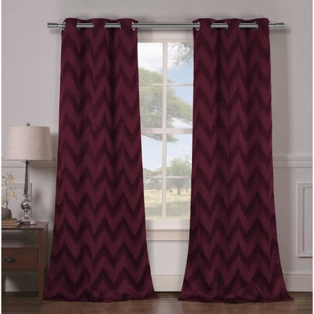 2-Pack Lysanna 38 in. W x 84 in. L Polyester Window Panel in (Iron And Wine Naked As We Come)
