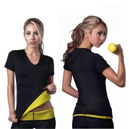 Stretch Moleskin Vest - Hot Body Shapers T-shirt Hot Shapers Stretch Neoprene Fitness Yoga Slimming Vest Body Shaper Control Vest Tops