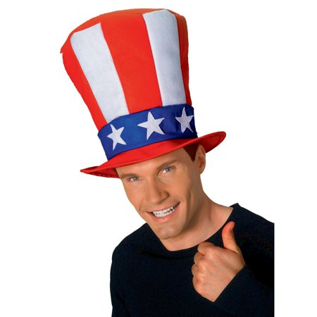 Uncle Sam Hat Craft (Uncle Sam Adult Stovepipe Hat Halloween Costume Accessory )